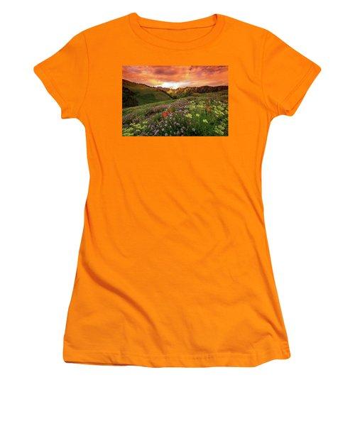 Albion Basin Golden Sunrise Women's T-Shirt (Athletic Fit)