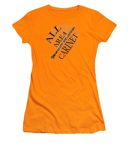 All Area Clarinet Women's T-Shirt (Athletic Fit)