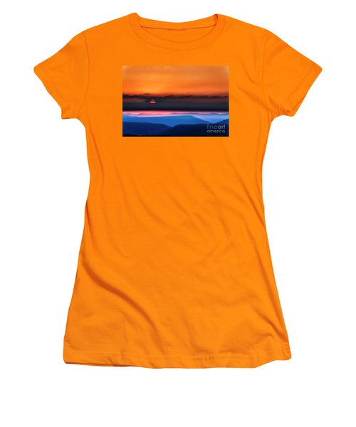 Allegheny Mountain Sunrise 2 Women's T-Shirt (Athletic Fit)