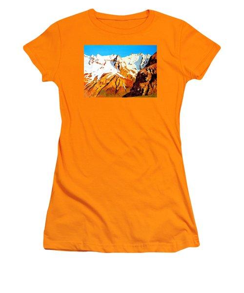 Alpine Landscape Women's T-Shirt (Junior Cut) by Henryk Gorecki