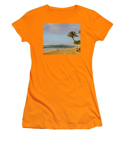 An Afternoon At Sunset Beach Women's T-Shirt (Athletic Fit)