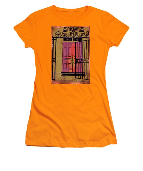 An Open Gate Women's T-Shirt (Junior Cut) by Joan Reese