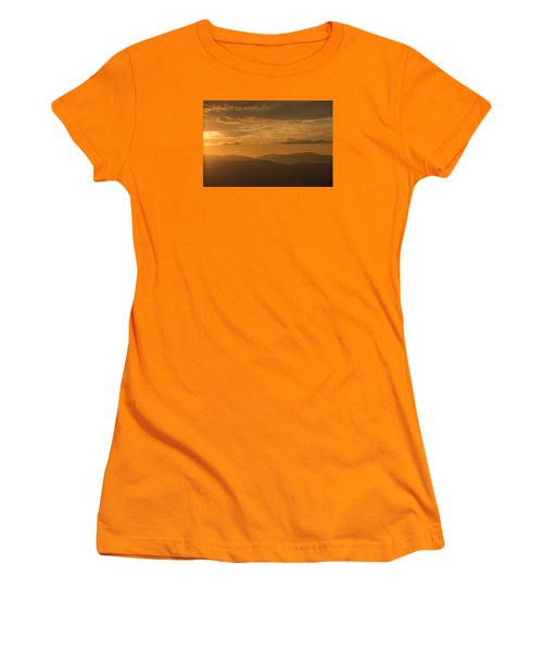 An Orange Vermont Sunset Women's T-Shirt (Athletic Fit)