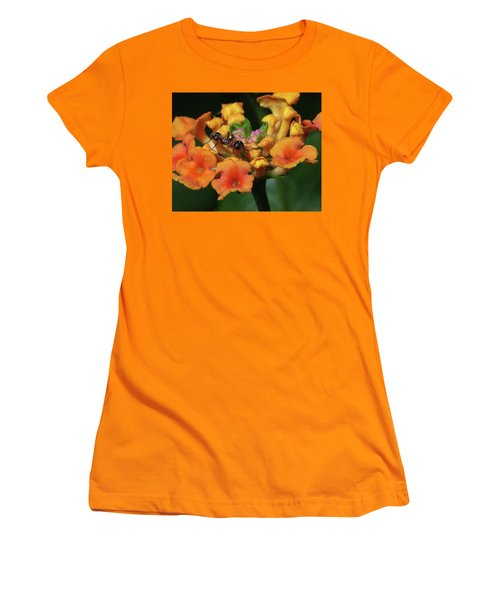 Women's T-Shirt (Junior Cut) featuring the photograph Ant On Plant  by Richard Rizzo