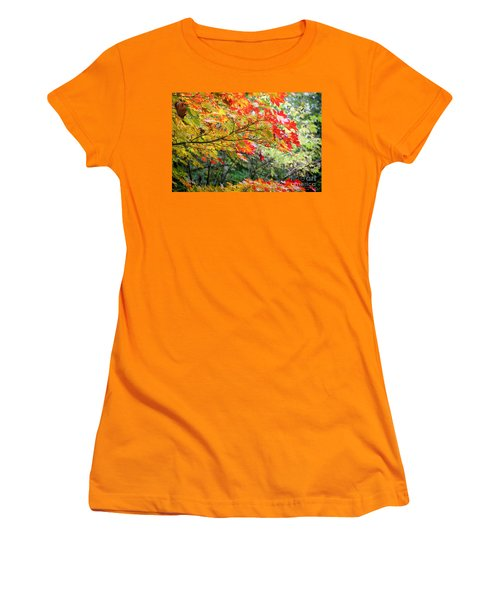 Arboretum Autumn Leaves Women's T-Shirt (Athletic Fit)