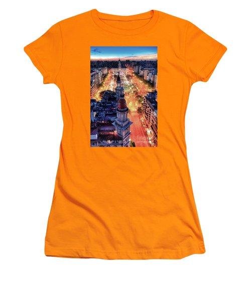 Women's T-Shirt (Junior Cut) featuring the photograph Argentina National Congress by Bernardo Galmarini