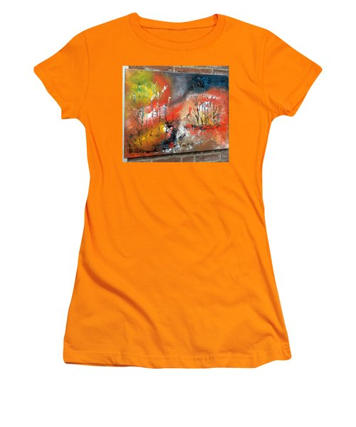 Women's T-Shirt (Junior Cut) featuring the painting Art Work by Sheila Mcdonald