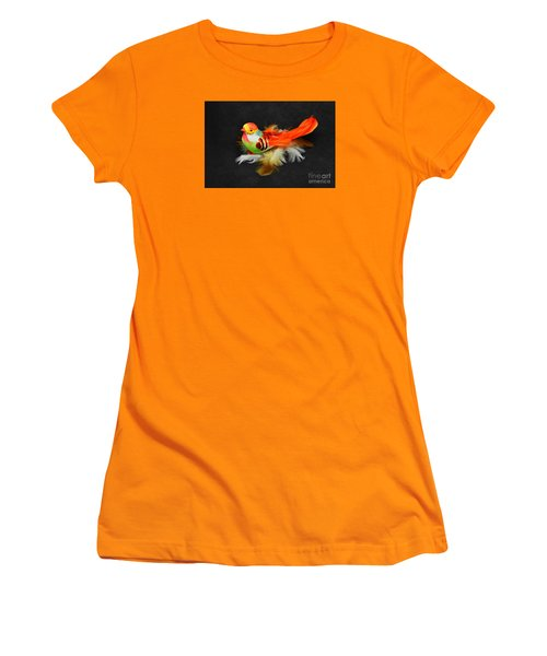 Artificial Orange Bird Women's T-Shirt (Athletic Fit)