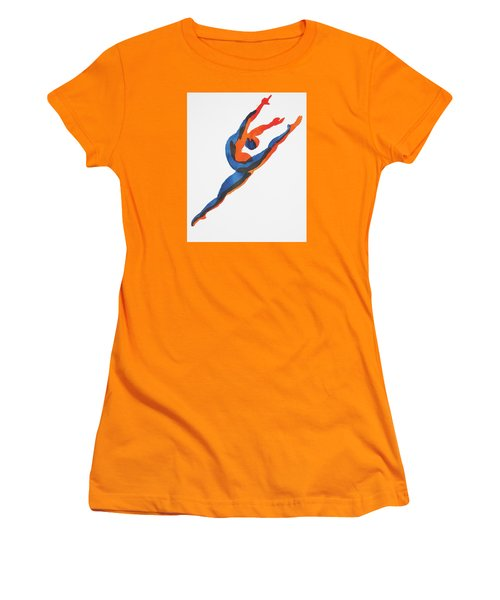 Ballet Dancer 2 Leaping Women's T-Shirt (Junior Cut) by Shungaboy X