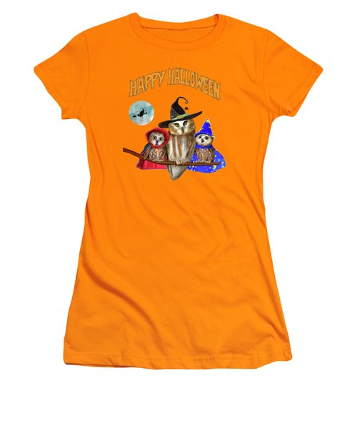 Happy Halloween From Owl Of Us Women's T-Shirt (Athletic Fit)