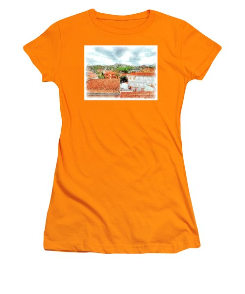 Arzachena Urban Landscape With Mountain Women's T-Shirt (Athletic Fit)