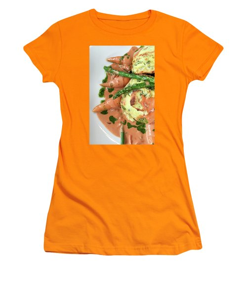 Asparagus Dish Women's T-Shirt (Junior Cut) by Tom Gowanlock