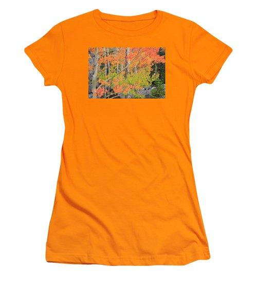 Women's T-Shirt (Junior Cut) featuring the photograph Aspen Stoplight by David Chandler