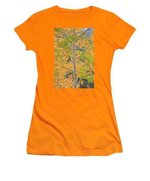 Women's T-Shirt (Junior Cut) featuring the photograph Aspen Watching You by David Chandler