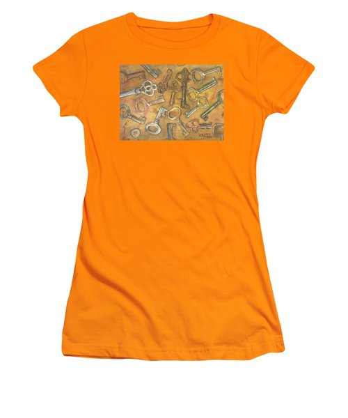 Assorted Skeleton Keys Women's T-Shirt (Athletic Fit)