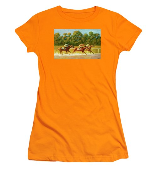 At The Finish Line Women's T-Shirt (Athletic Fit)