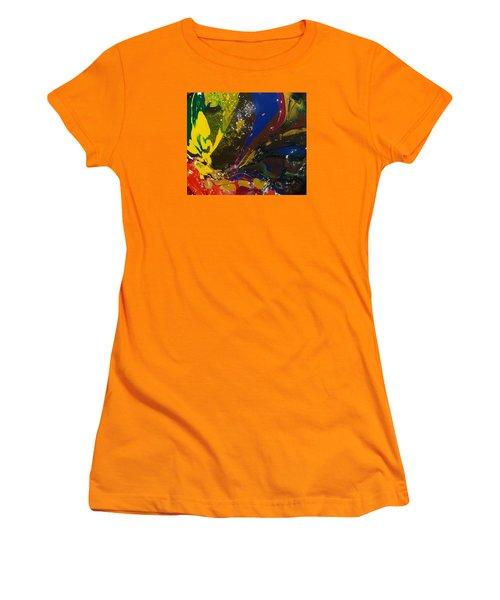 Atom, Surfing On Dog Women's T-Shirt (Junior Cut) by Gyula Julian Lovas