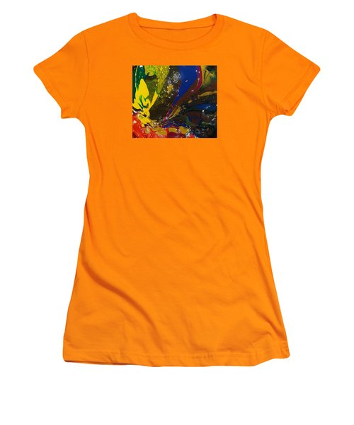 Atom, Surfing On Dog Women's T-Shirt (Athletic Fit)