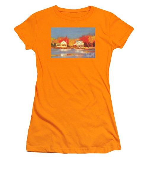 Atsion Lake Women's T-Shirt (Junior Cut) by Mary Hubley