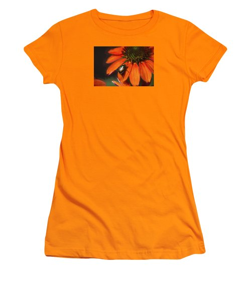 Attraction To Red Women's T-Shirt (Junior Cut) by John Rivera
