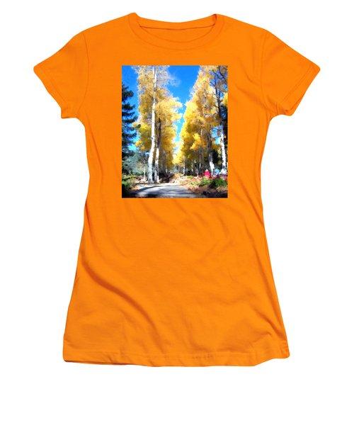 Autumn Aspens Women's T-Shirt (Athletic Fit)