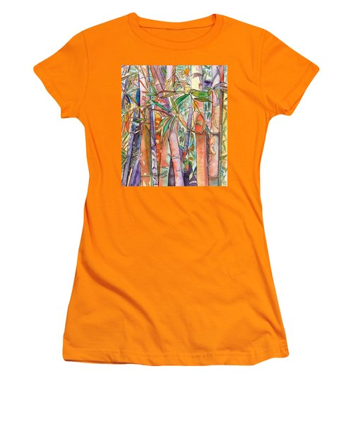Autumn Bamboo Women's T-Shirt (Junior Cut) by Marionette Taboniar