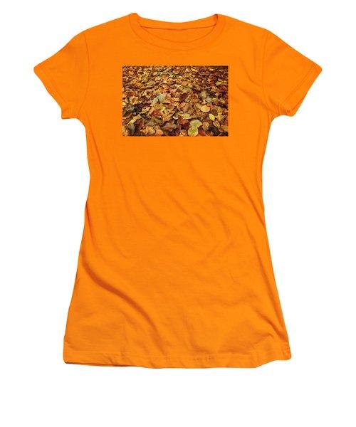 Autumn Carpet Women's T-Shirt (Junior Cut) by Vittorio Chiampan