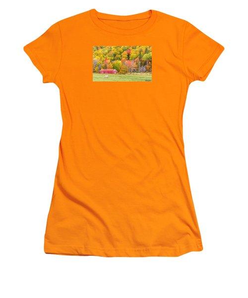 Autumn Colors Near Lake Ainslie  Women's T-Shirt (Athletic Fit)