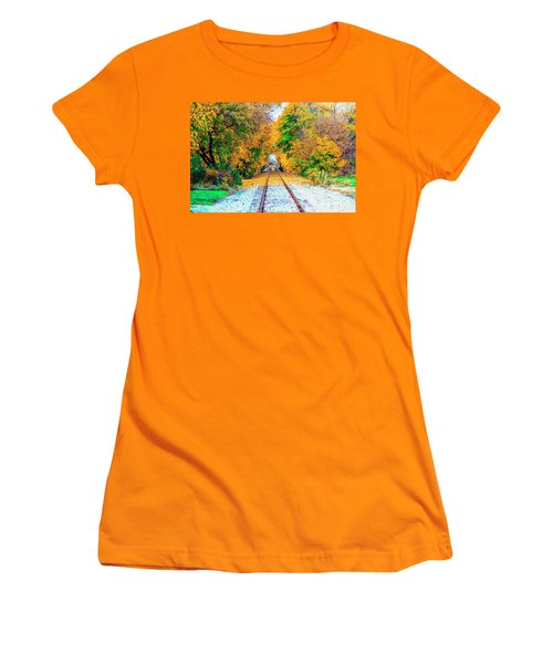 Autumn Days Women's T-Shirt (Junior Cut) by Jim Lepard