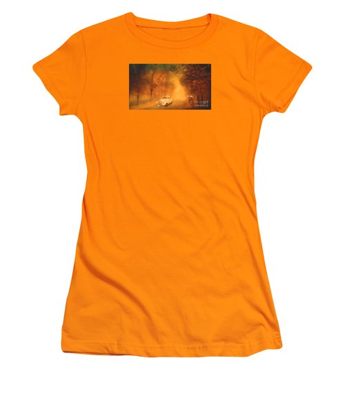 Autumn Evening Women's T-Shirt (Junior Cut) by Jim  Hatch