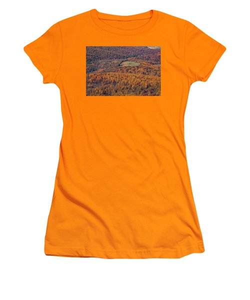 Autumn Mountain Side Women's T-Shirt (Athletic Fit)