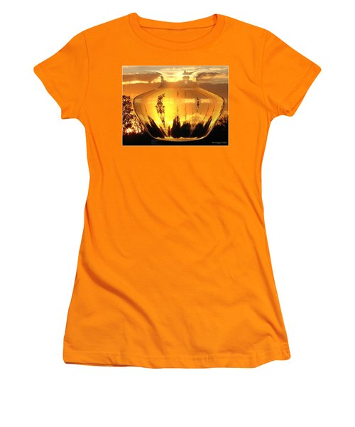 Women's T-Shirt (Junior Cut) featuring the photograph Autumn Spirits by Joyce Dickens