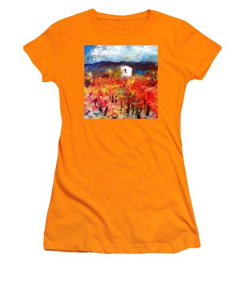 Autumn Vineyard Women's T-Shirt (Athletic Fit)