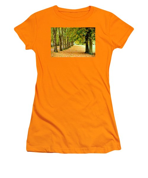 Women's T-Shirt (Junior Cut) featuring the photograph Autumn Walk by Colin Rayner