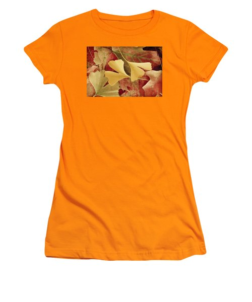 Autumn Yellow Women's T-Shirt (Athletic Fit)