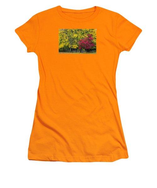 Autumn's Peak Women's T-Shirt (Junior Cut) by Jeremy Lavender Photography
