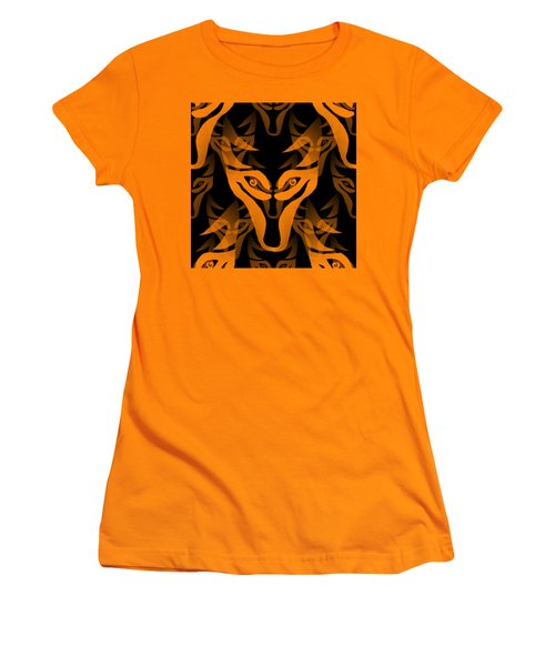 Background Choice Black Wolf Women's T-Shirt (Athletic Fit)