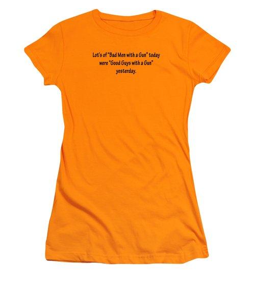 Bad Men With Guns Women's T-Shirt (Athletic Fit)