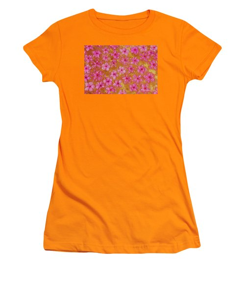 Balinese Flowers Women's T-Shirt (Athletic Fit)