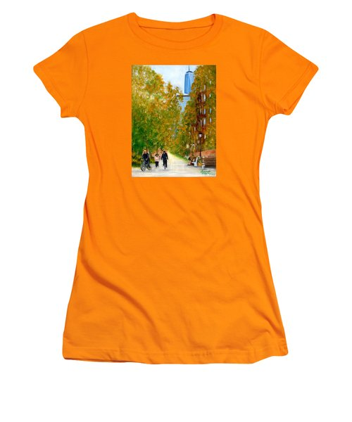 Battery Park City Ny Women's T-Shirt (Athletic Fit)