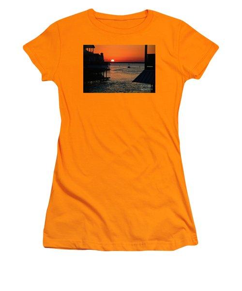 Bayou Vista Sunset Women's T-Shirt (Athletic Fit)