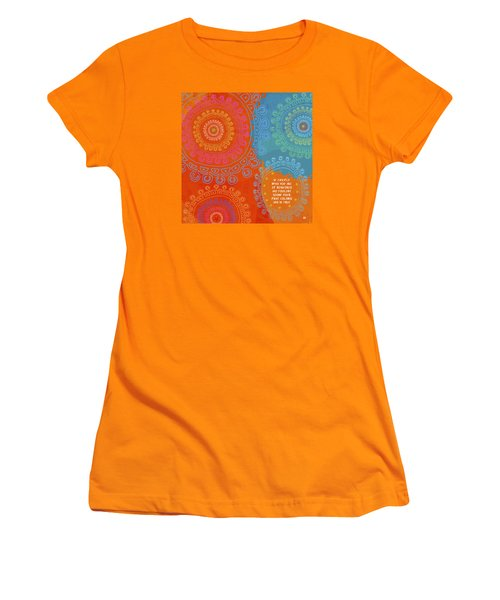 Women's T-Shirt (Athletic Fit) featuring the painting Be Exactly Who You Are by Lisa Weedn