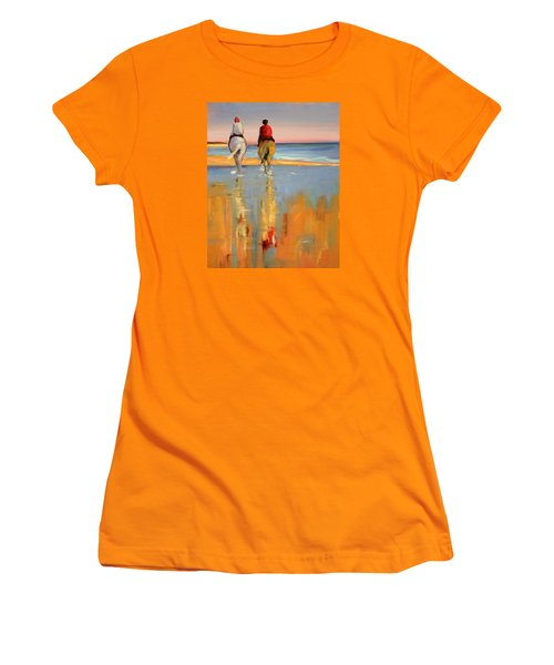 Beach Riders Women's T-Shirt (Junior Cut) by Trina Teele