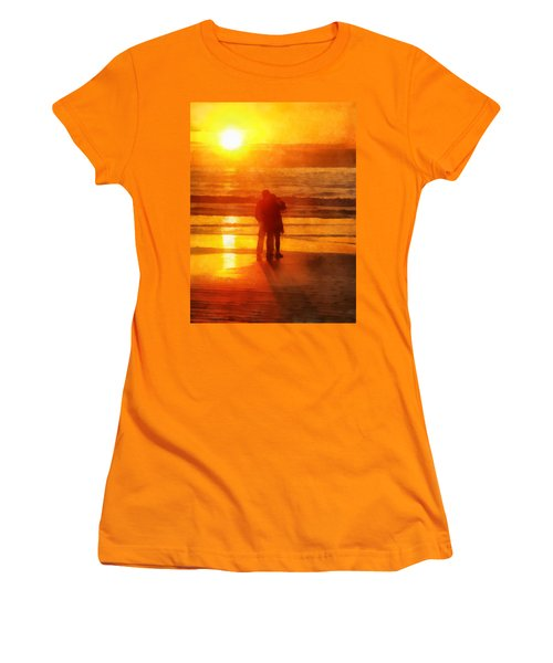 Beach Sunrise Love Women's T-Shirt (Junior Cut) by Francesa Miller
