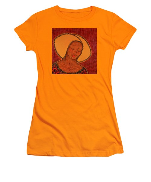 Women's T-Shirt (Junior Cut) featuring the mixed media Beauty Of Silence by Gloria Rothrock