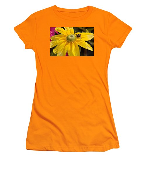 Bee On Yellow Cosmo Women's T-Shirt (Junior Cut) by Peter J Sucy