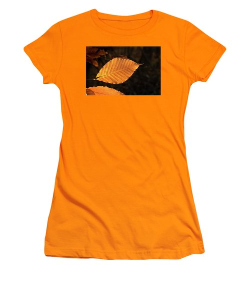 Beech Leaves In Afternoon Sun Women's T-Shirt (Athletic Fit)