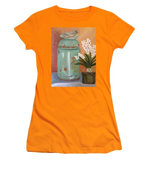 Women's T-Shirt (Junior Cut) featuring the painting Bell Jar by Sharon Schultz