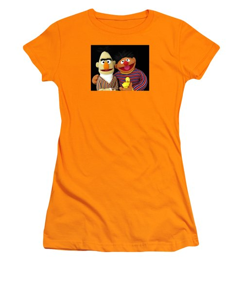 Bert And Ernie Women's T-Shirt (Athletic Fit)