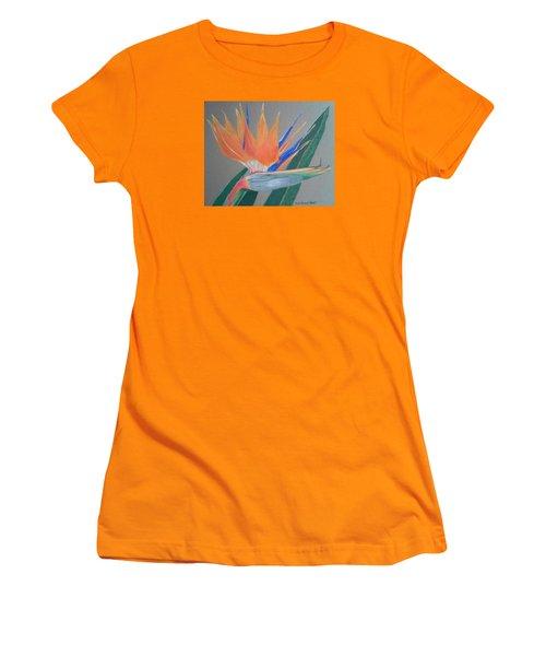 Bird Of Paradise Women's T-Shirt (Junior Cut) by Anita Putman